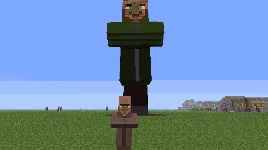 Villager Statue Minecraft Project