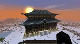 Huge Japanese Temple Minecraft Map & Project
