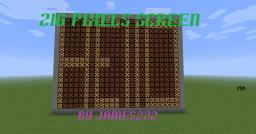 216 Pixel Screen ALL PIXELS PROGRAMABLE! Download  available! Minecraft Map & Project
