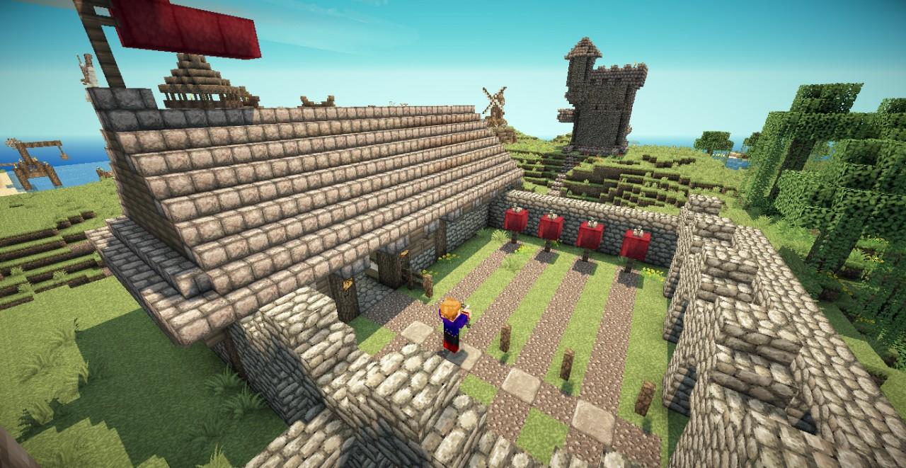 Medieval Barracks/Archery Range Minecraft Project