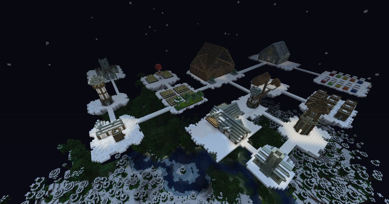 Floating City In The Sky Minecraft Minecraft floating city 2Floating City In The Sky Minecraft