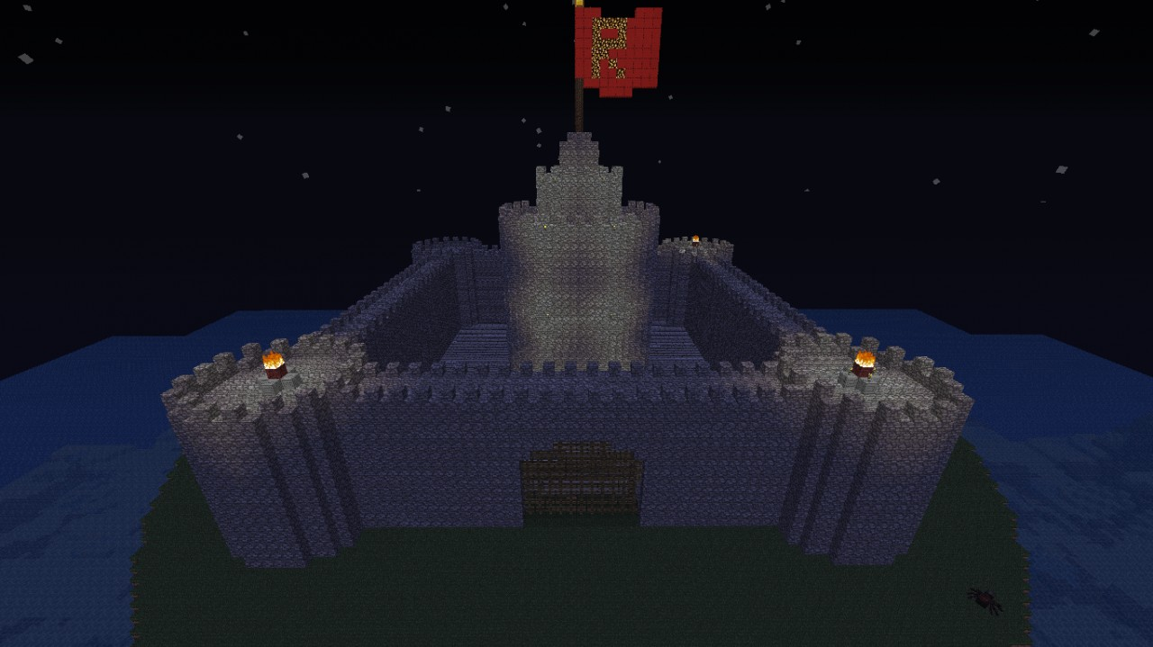 Castle Hollow Towers And Courtyard For Maps Minecraft