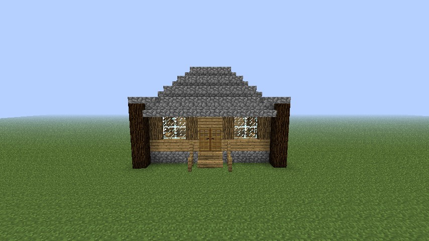 . How to Build a Simple Log Cabin Minecraft Blog