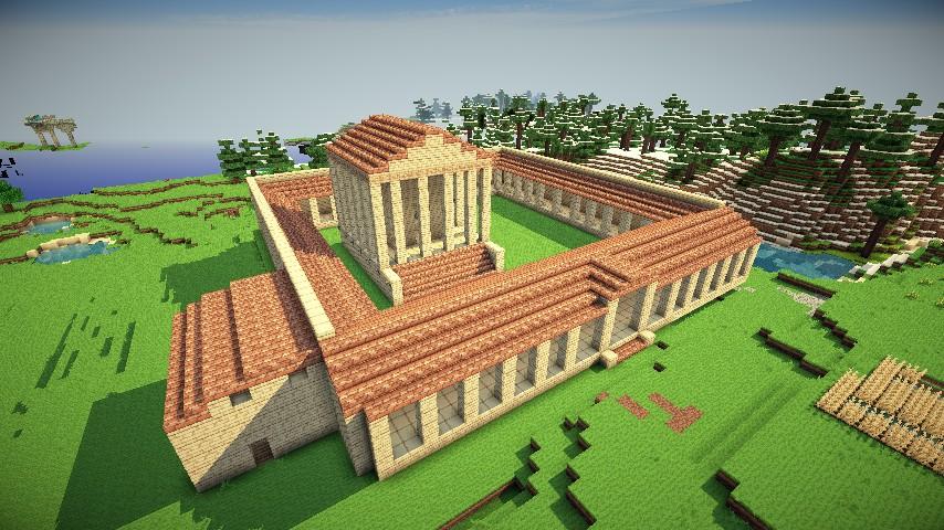 Roman Temple Minecraft Project