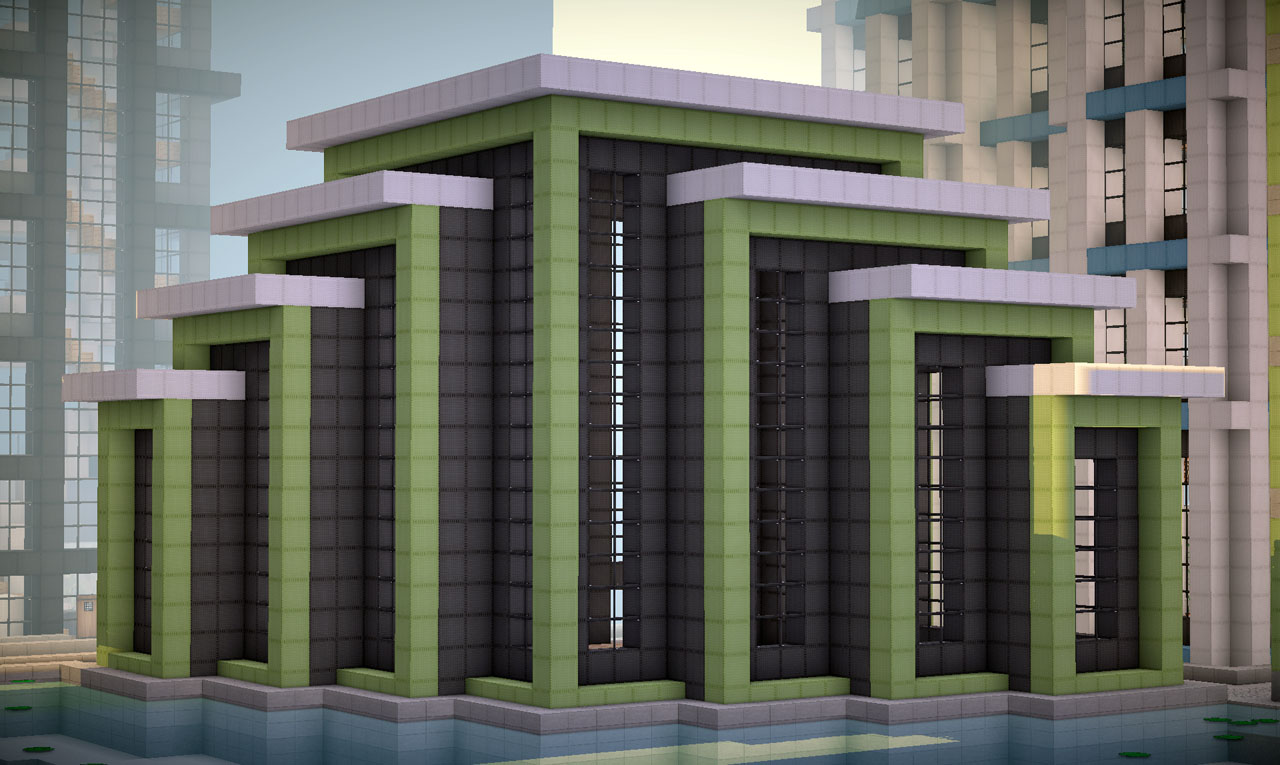 Modern Building on World of Keralis Minecraft Project - ^