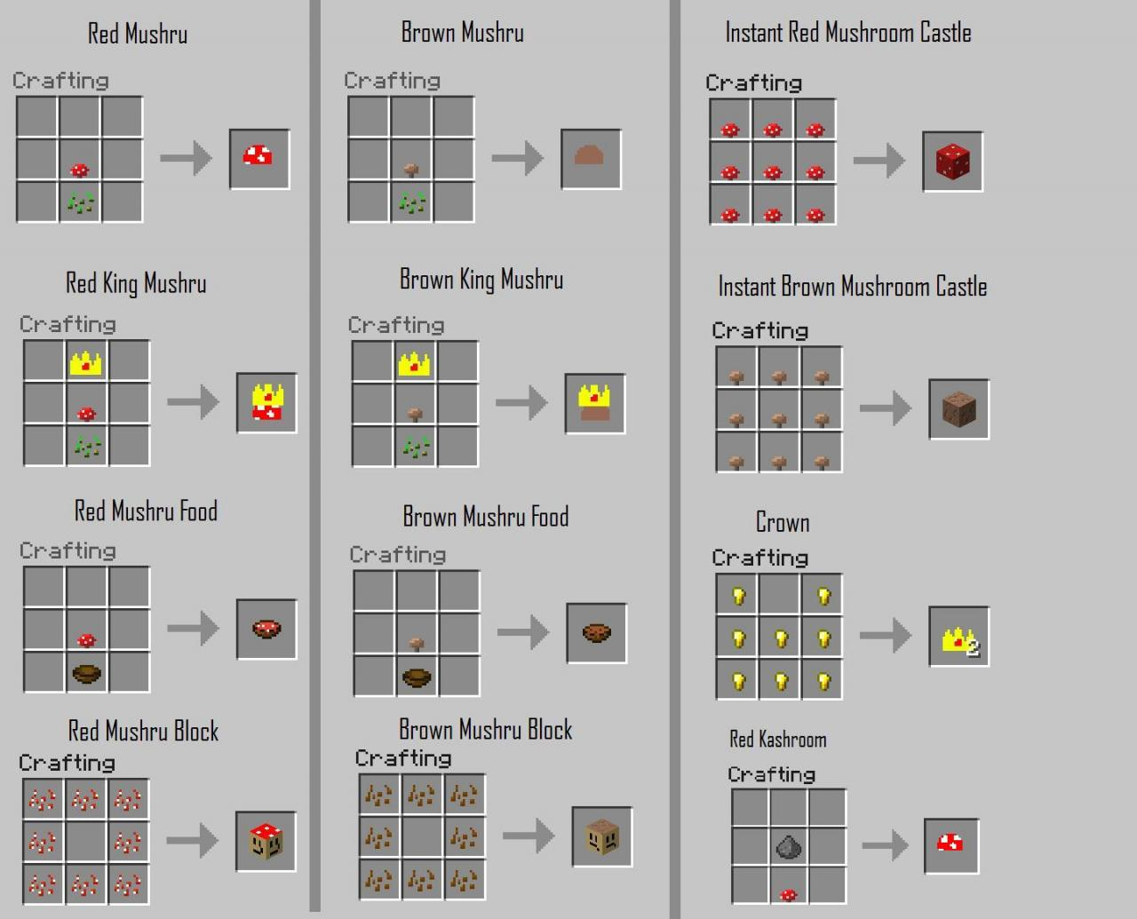 Pokemon crafting recipes images pokemon images - Minecraft crafting table recipes list ...