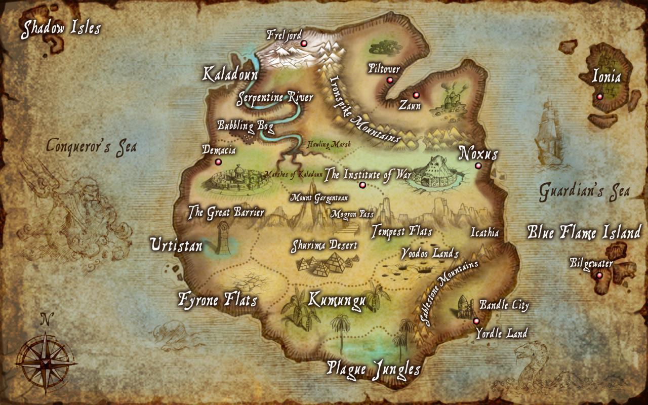 League Of Legends World Map
