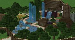 Wasser Baum City | Good for servers Minecraft Map & Project