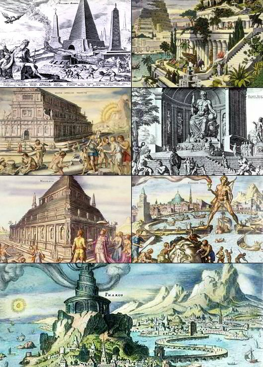 old 7 wonders of the world pictures