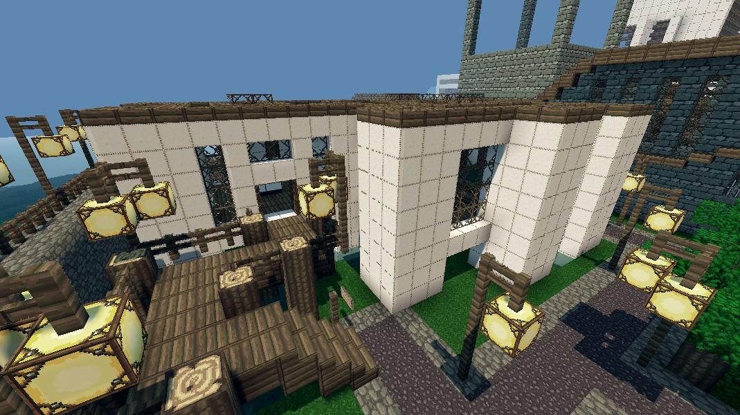 Modern Wool house Minecraft Project