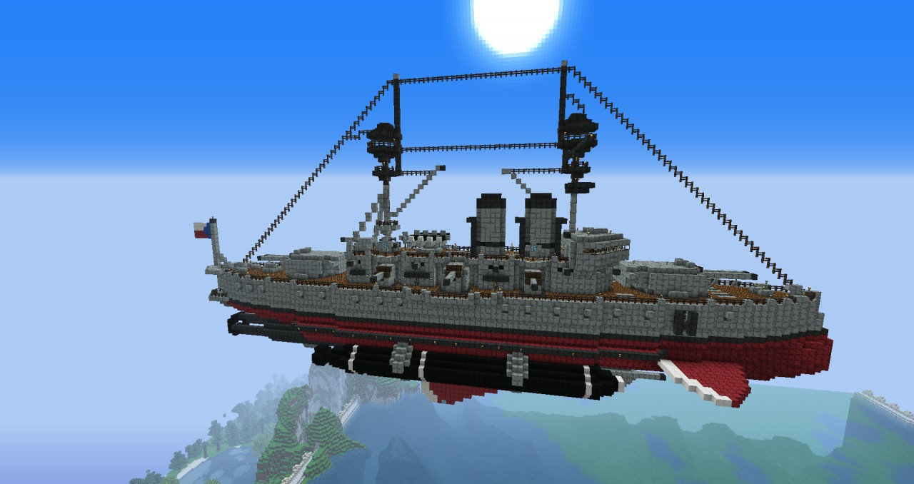 Predreadnought Steampunk Airship Minecraft Project
