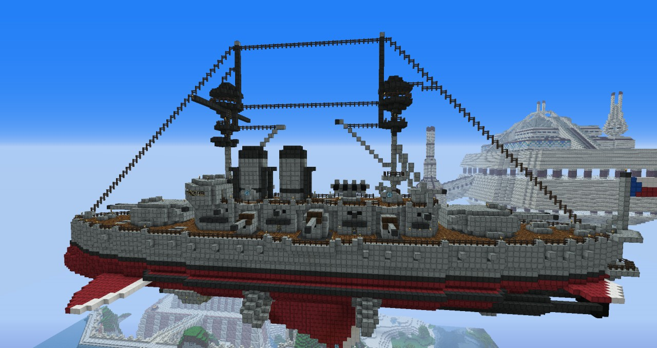 Predreadnought steampunk airship Minecraft Project