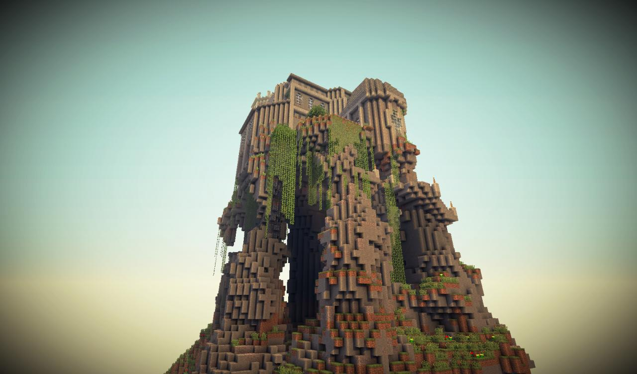 The Eyrie Castle On A Mountain Minecraft Project