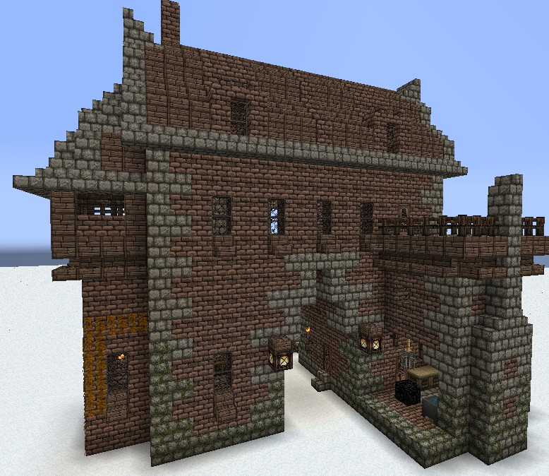 East Gate: Medieval Gatehouse Minecraft Project