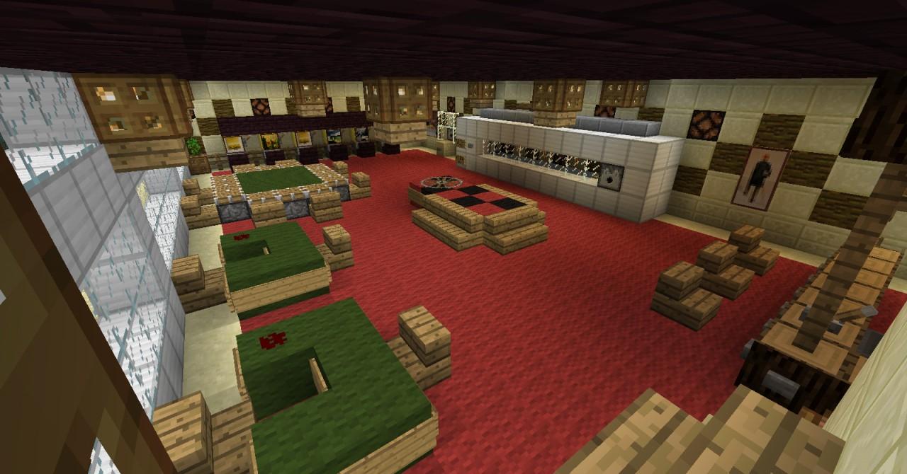 Sun and sea beach hotel. Minecraft Project
