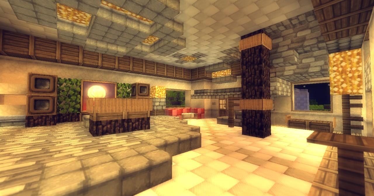 Lite Sandstone Modern House Minecraft Project