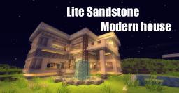 Lite Sandstone Modern house Minecraft Map & Project