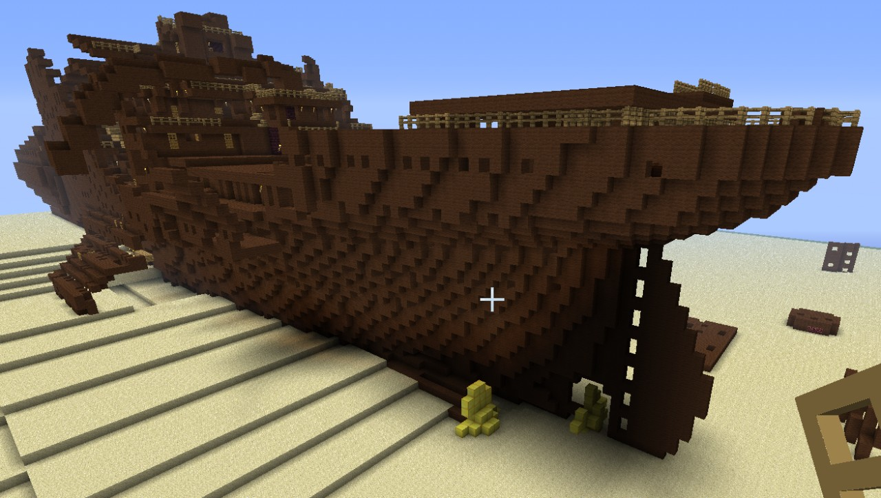 Titanic the wreck minecraft project 3d site