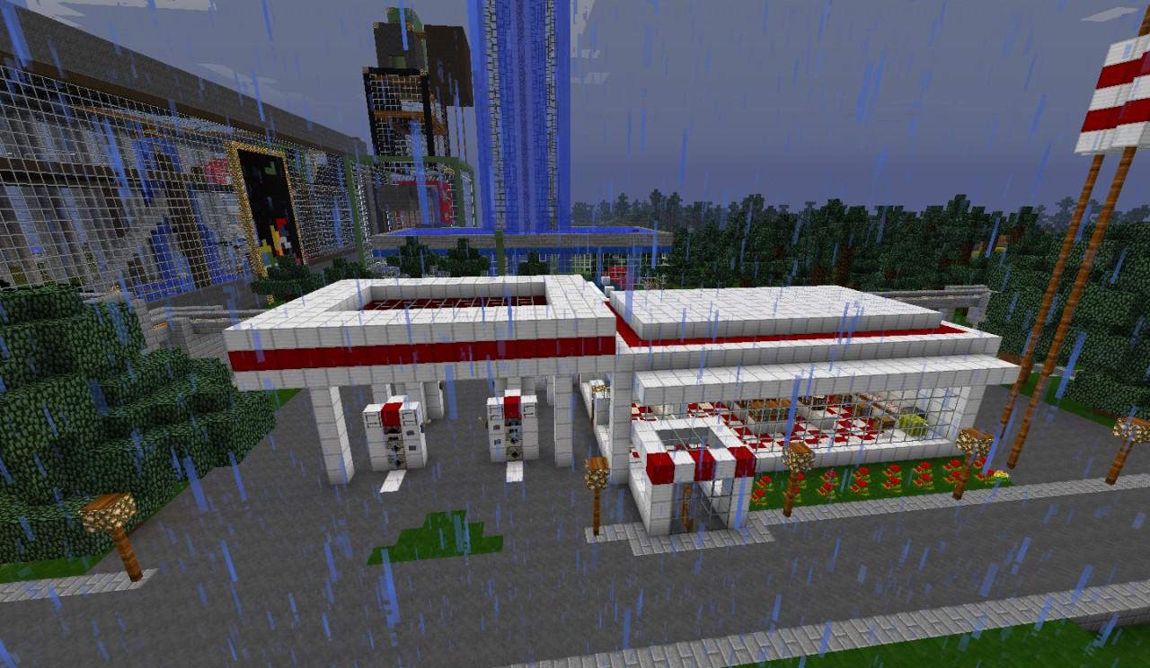 suspension bridge gas station container ships schematic minecraft