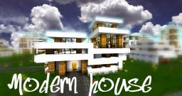Modern house | World save with 25+ houses! | Now includes subway with 6 stations and new big 3 floors house!! =) Minecraft Project