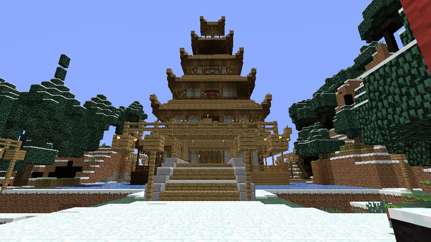 Huge Pagoda Chinese Type Structure Minecraft Project