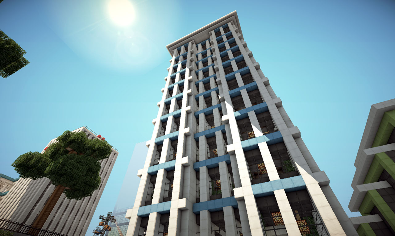 Modern skyscraper on world of keralis minecraft project for Keralis modern house 9 part 1