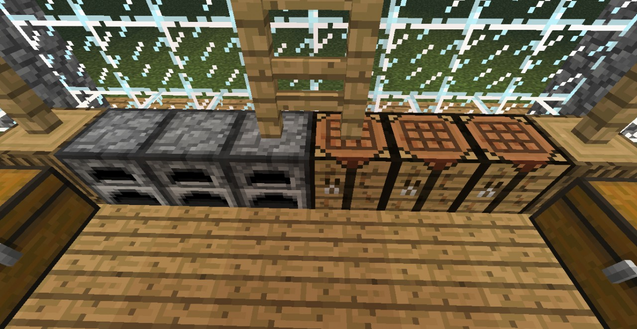 Furnace and Crafting Table