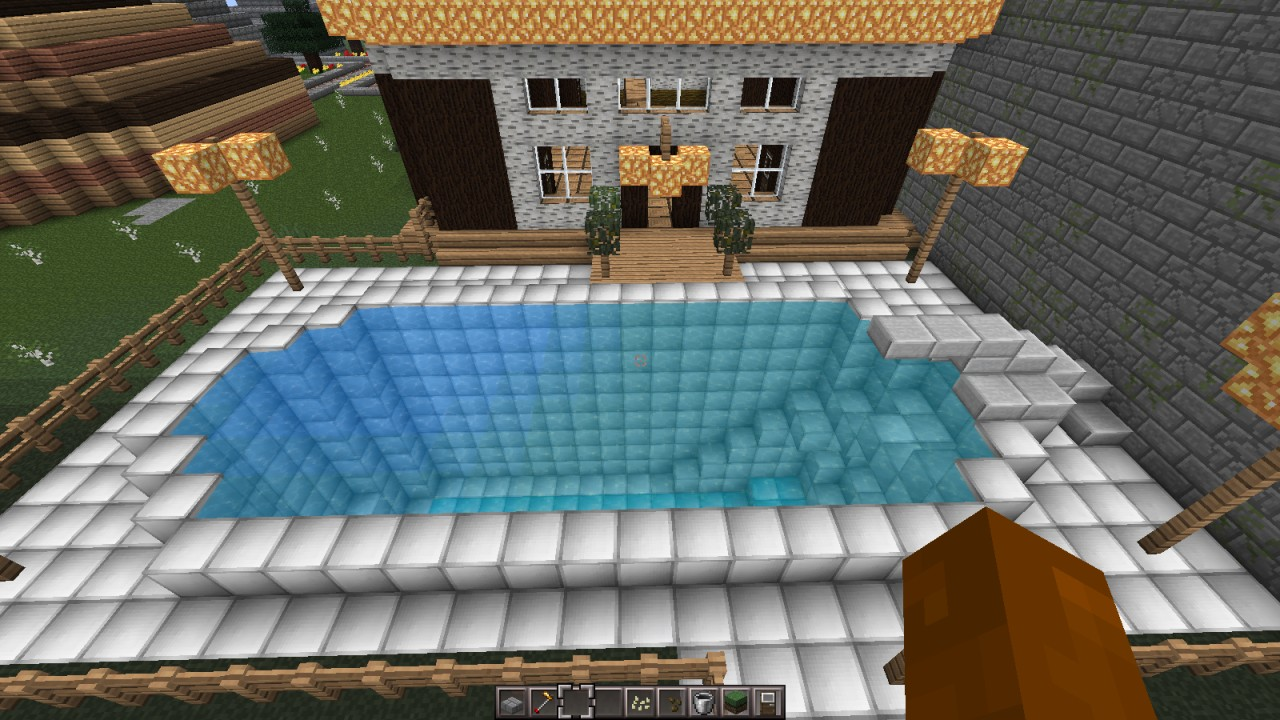 Swimming Pool Pool Deck Town Of Shannara 39 S Owners House Minecraft Project