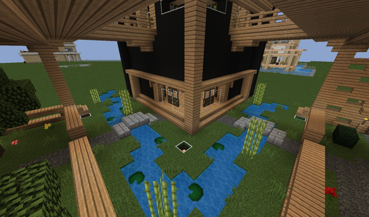 Elevated modern home with garden minecraft project for Little garden imports
