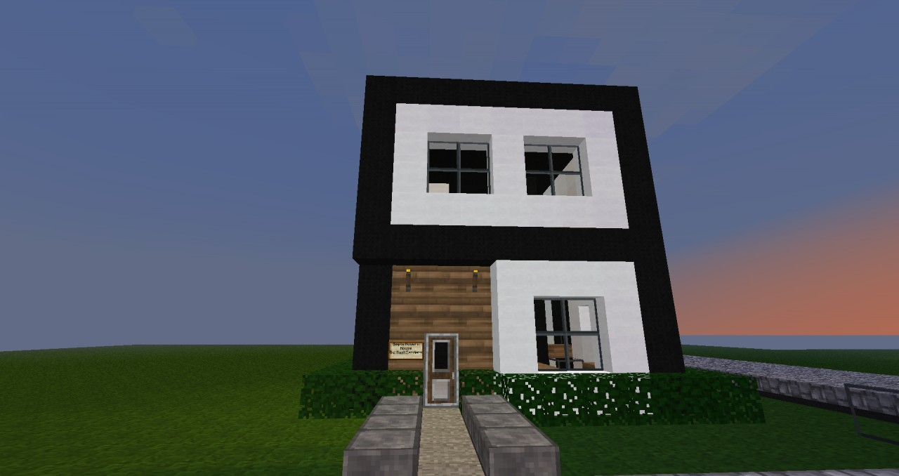 Simple modern house minecraft project for Modern house simple