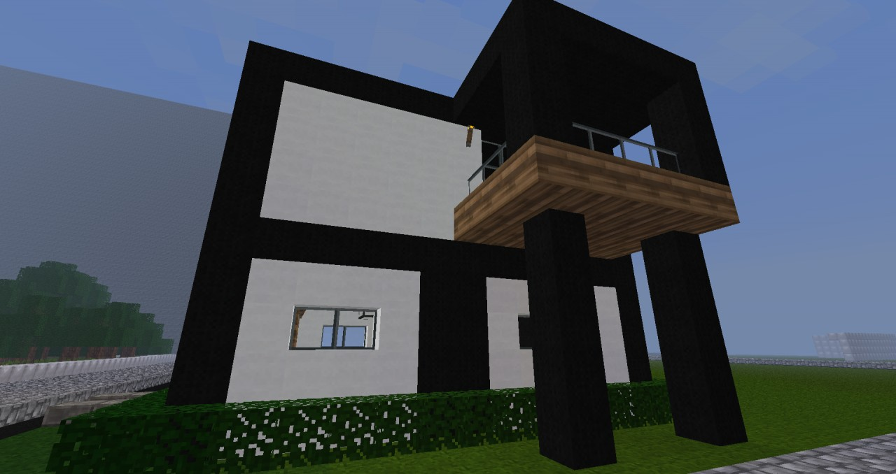 Simple modern house minecraft project for Modern house projects
