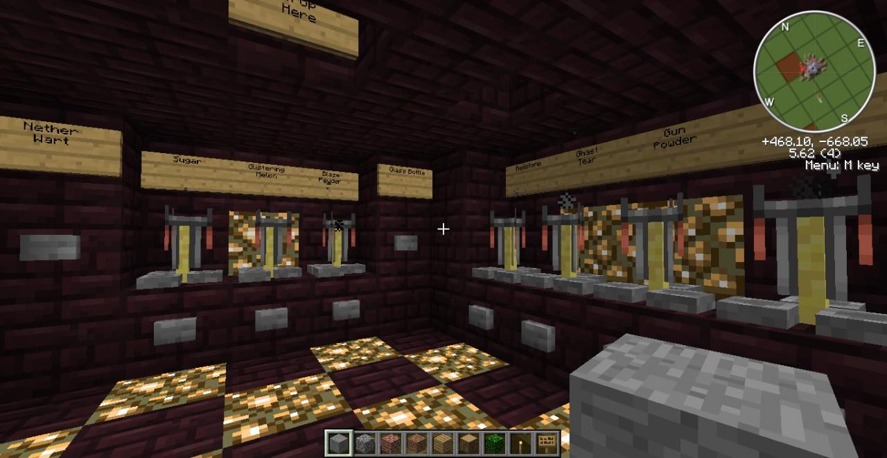 Potion Ingredient Dispenser Room Minecraft Project