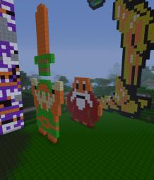 I may have too much time to make pixel art with... Minecraft Map & Project