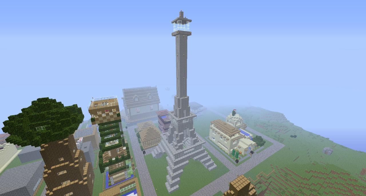 Eiffel Tower Minecraft Project