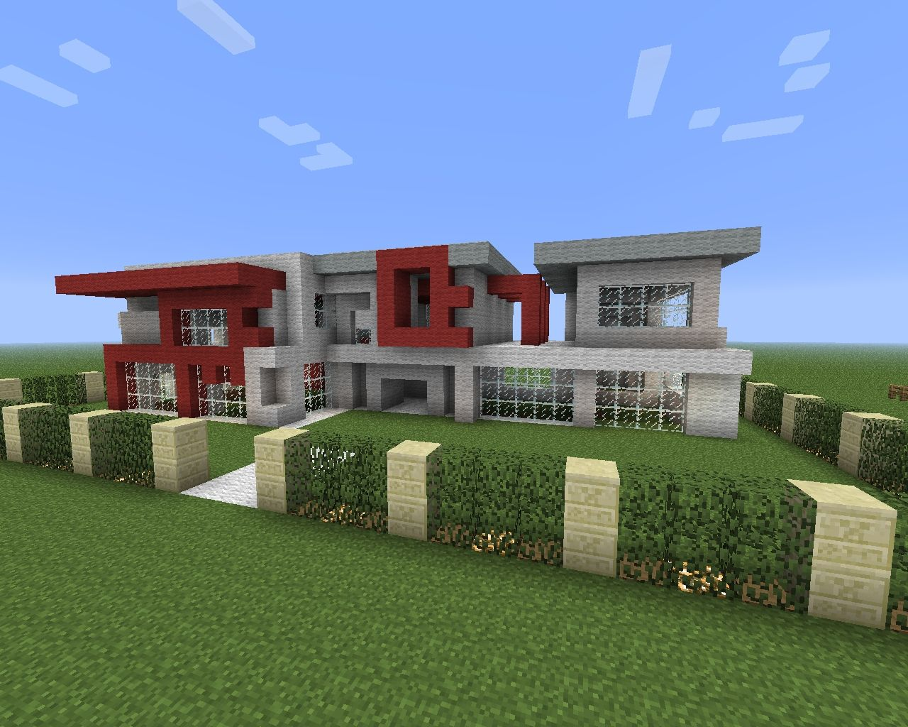 Modern big house minecraft project for Huge modern mansion