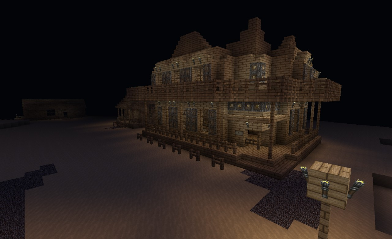 Old western saloon minecraft project for Salon western