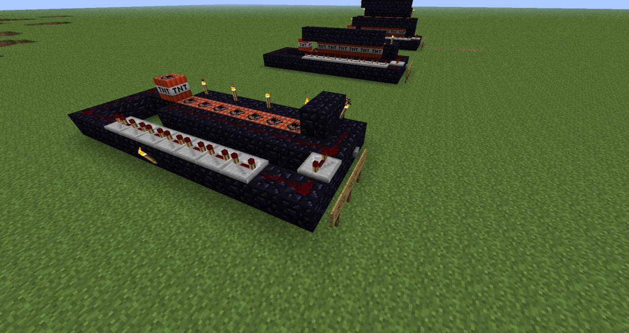 TNT cannons Minecraft Project