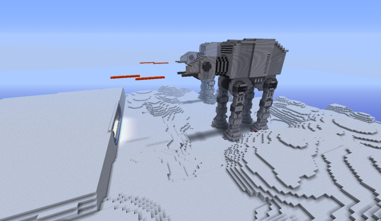 star wars at at minecraft project. Black Bedroom Furniture Sets. Home Design Ideas