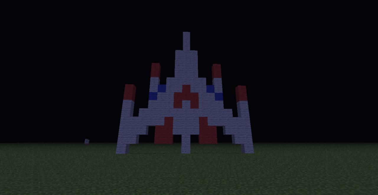 Galaga Ship Pixel Art Minecraft Project