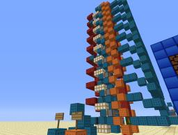 Easy and Compact Vertical Counter Minecraft