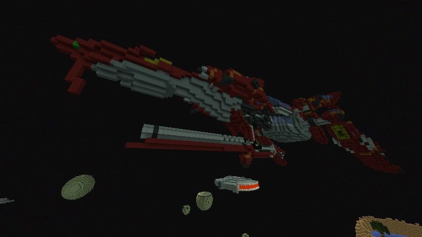 FF8 Ragnarok Spaceship - REMADE (Schematic) Minecraft Project