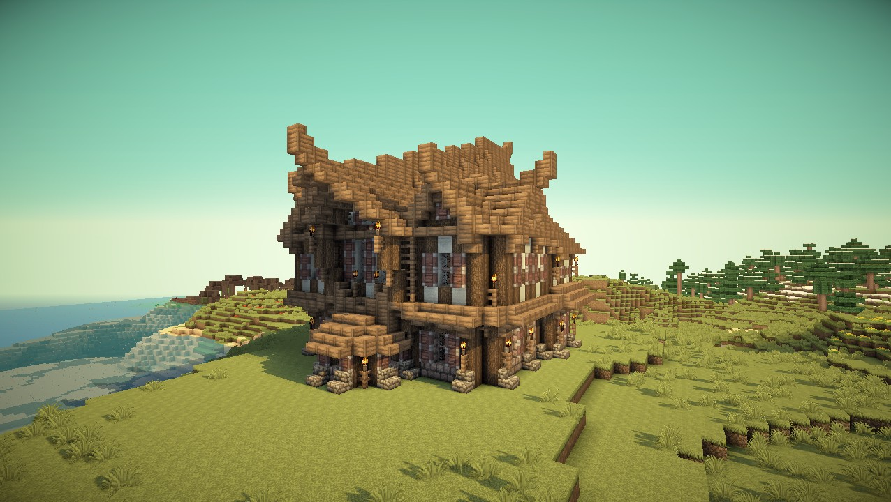 how to make a medieval house in mc