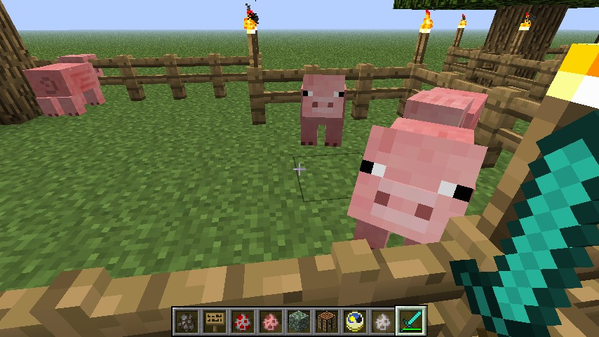 how to make a minecraft farm with animals