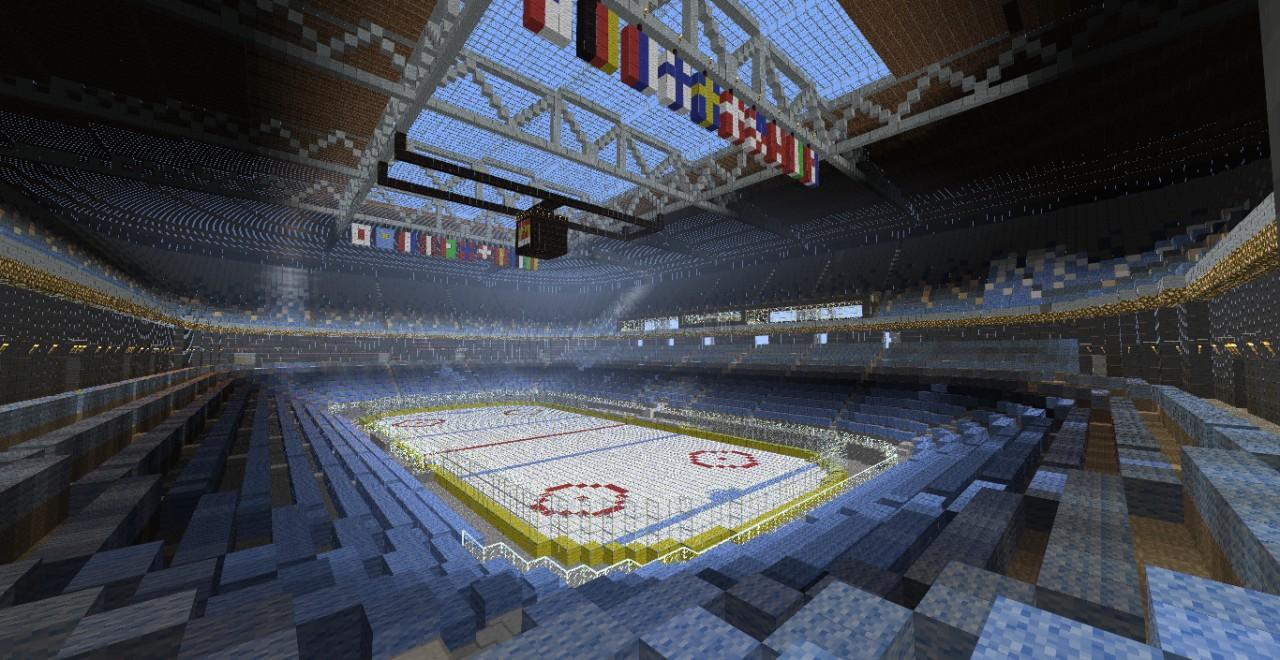 National Minecraft ice-hockey stadium Minecraft Project