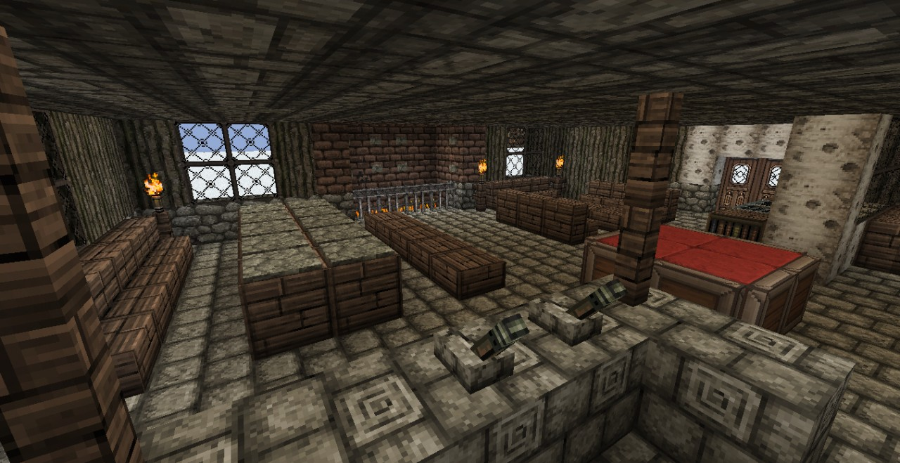 Guild Hall Medieval Fantasy Minecraft Project