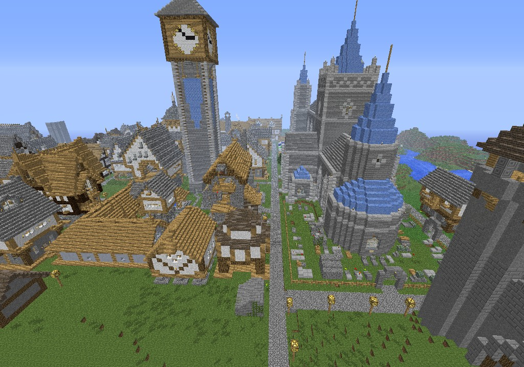 Medieval City Fortress Minecraft Project