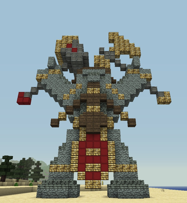 how to make a small statue in minecraft