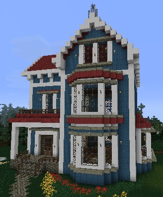 Victorian House Minecraft Blueprint Rose Minecraft House Related