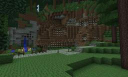 Wooden Mountain Side House Minecraft Map & Project