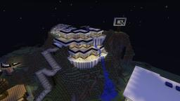 Design Of The Modern House On The Hill Minecraft Map & Project